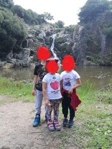la cascata di Triulintas a Martis