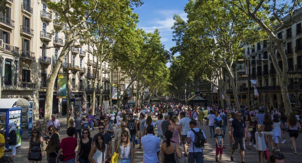 las ramblas a Barcellona