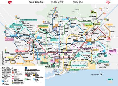 Mappa della metro di Barcellona