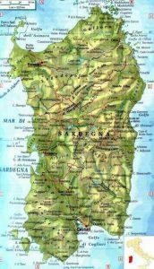 Sardegna Cartina Politica Dettagliata.Cartina Della Sardegna Famigliainviaggio It
