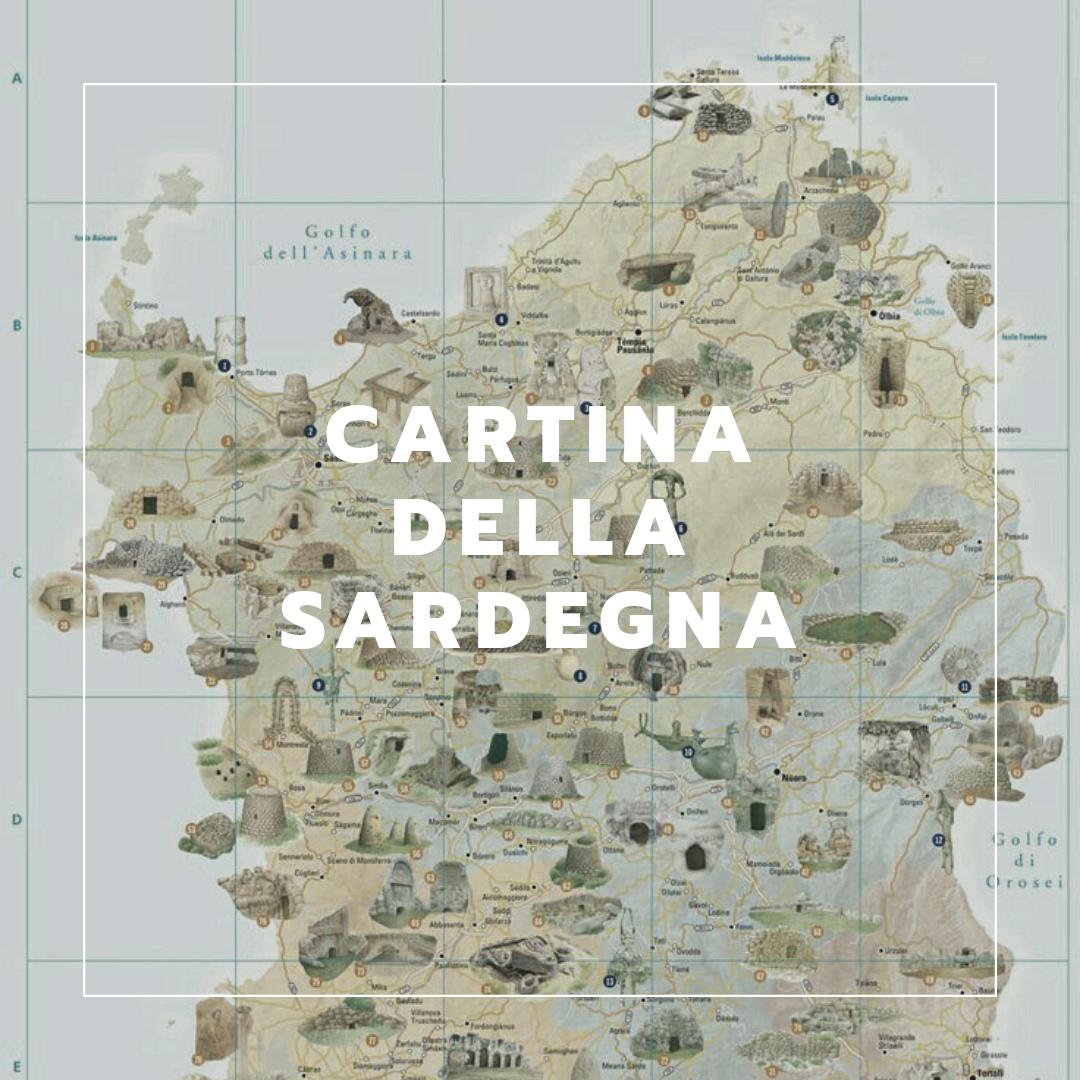 Sardegna Ovest Cartina.Cartina Della Sardegna Famigliainviaggio It