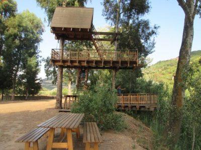 Casa sull'albero per bambini di Allai in Sardegna