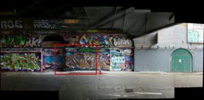 Street art and graffiti Londra muro