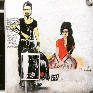 Street art e graffiti a Londra amy winehouse