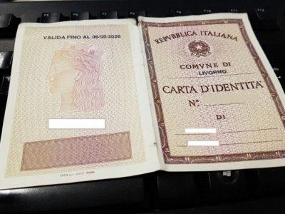 Carta d'identità cartacea