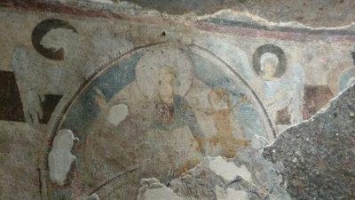 Sant'andrea priu Affreschi della tomba del Capo